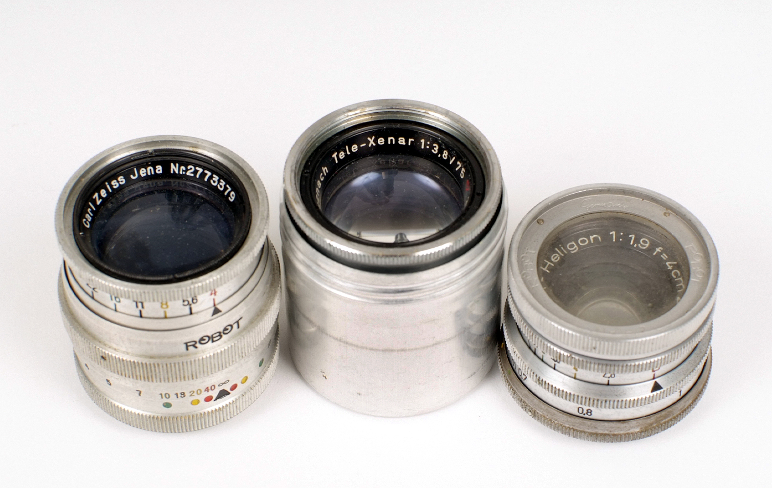 Lot 17 - A Collection of Robot Cameras Lenses. To include Tele-Aenar 75mm f3.8 lens, Sonnar 7.