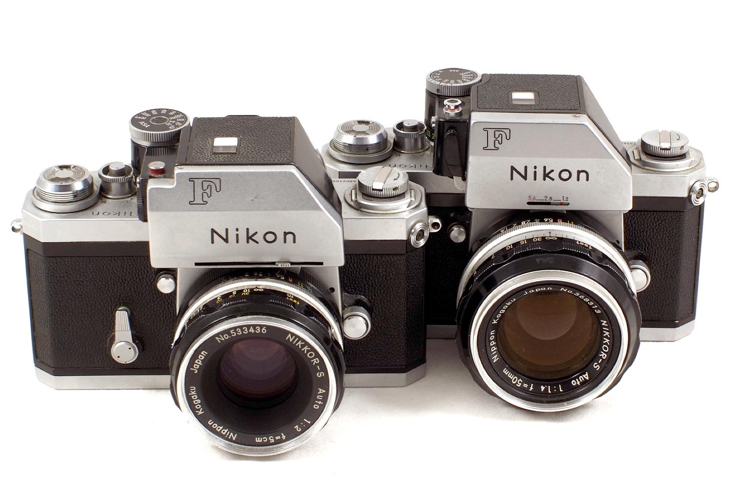 Lot 35 - Two Nikon F Photomic Film Cameras.