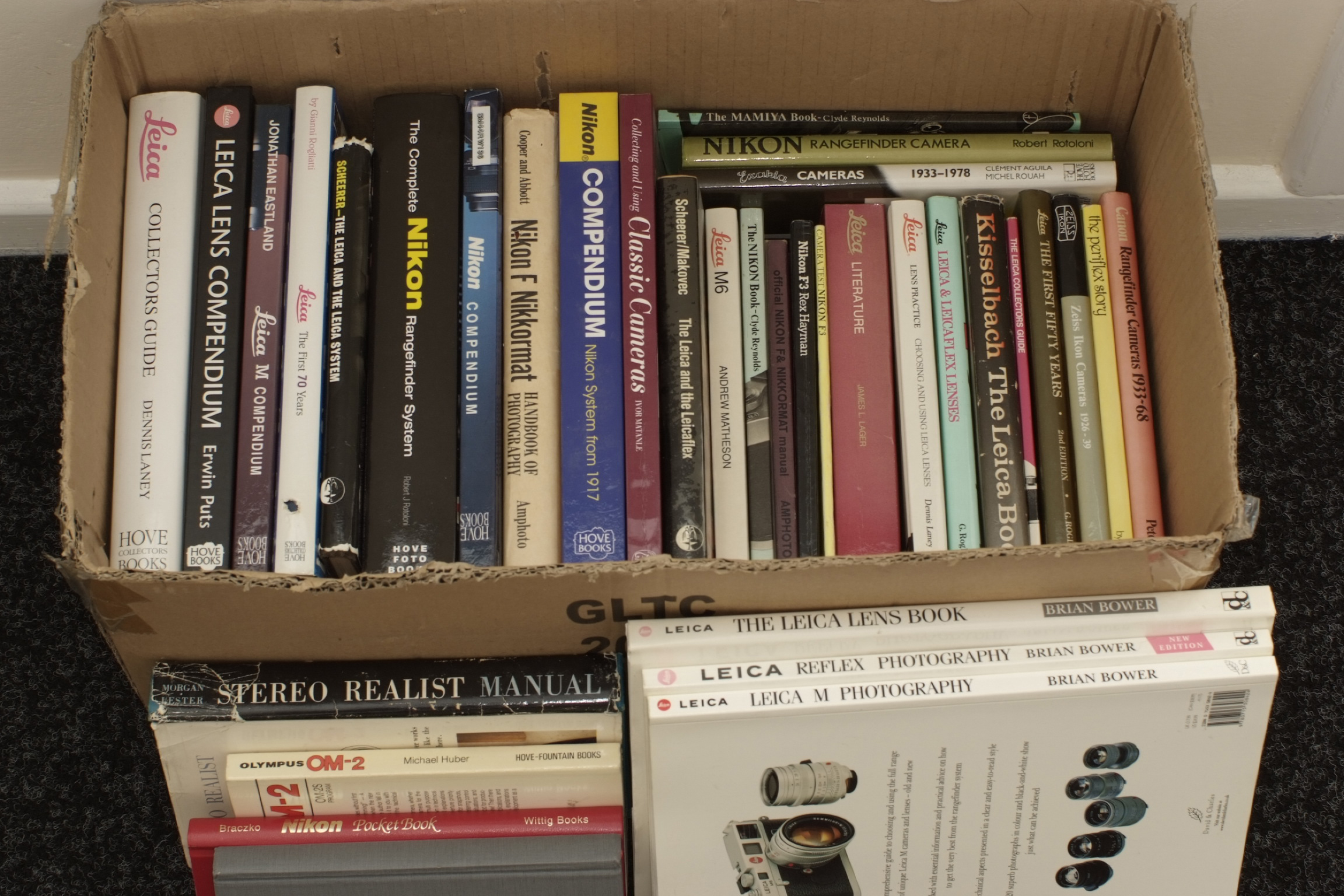 Lot 29A - A Good Box of Nikon and Leica Related Books.