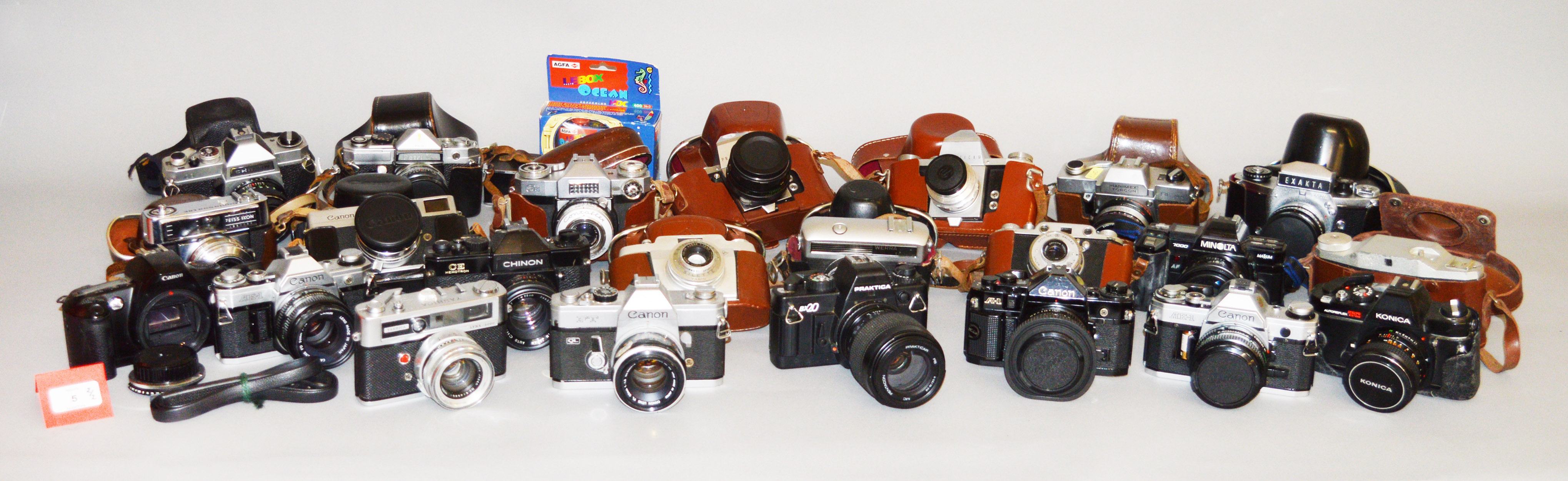 Lot 5 - Two Boxes of Miscellaneous Cameras.