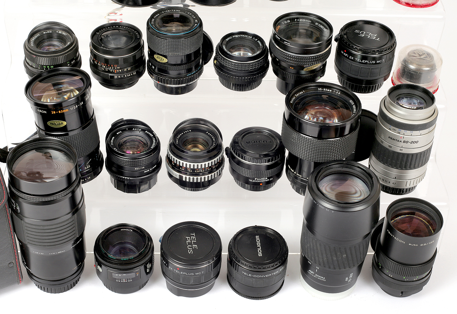 Lot 2A - Approximately 24 Various Lenses & Converters, etc.