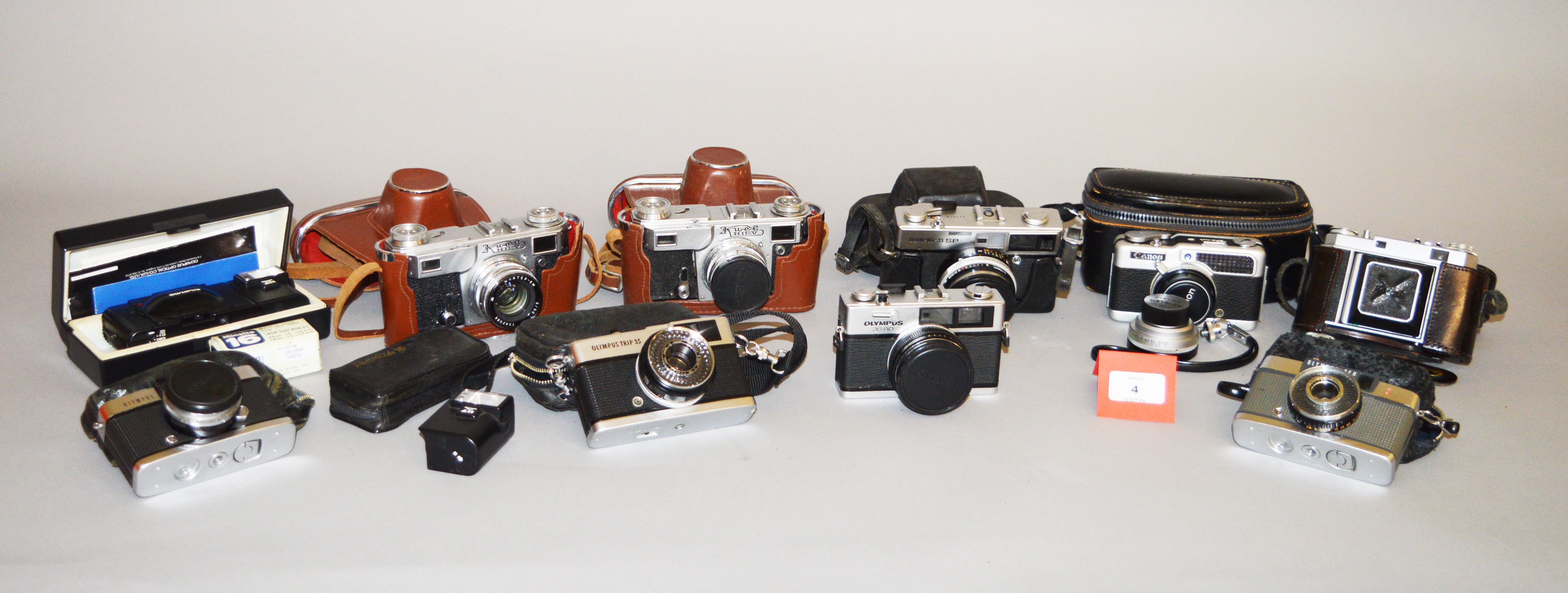 Lot 4 - A Good box of Olympus & Other Collectors Cameras.