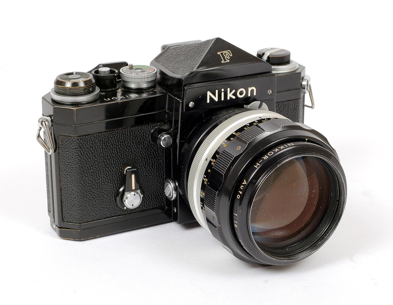 Lot 34 - Two Black Nikon F Cameras.