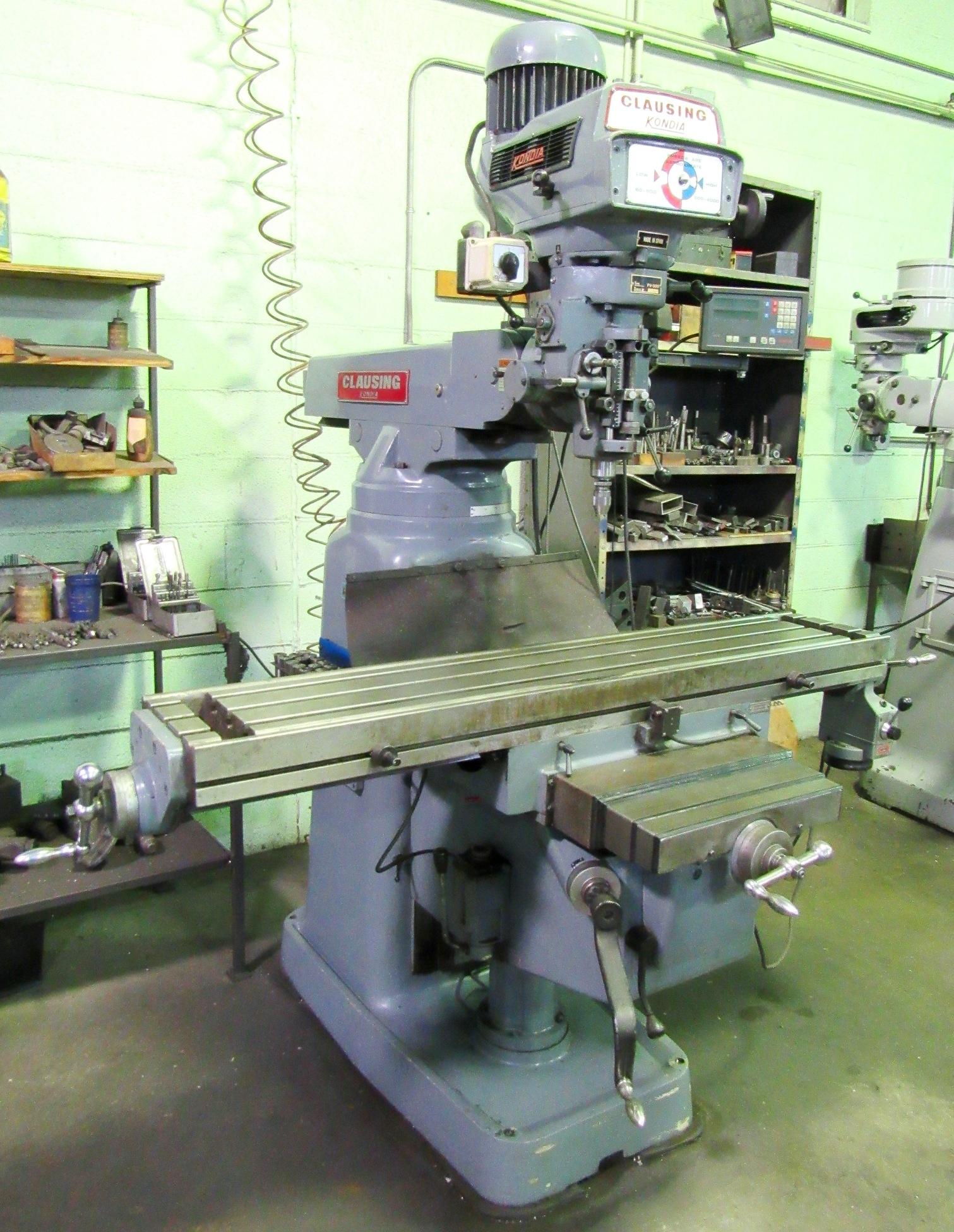 Lot 140 - Clausing Kondia Mod. FV-300 4HP Vari-Speed Milling Machine