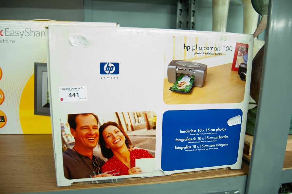 Lot 441 - HP PHOTOSMALL 100 PHOTO DIRECT INKJET COLOUR PRINTER, BOXED
