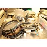Stock pots and saute pans