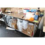 Stainless steel prep table, 6' with undershelf and backsplash