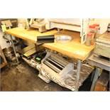 6' oak top prep table with under shelf