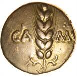 Cunobelinus Wild A. Ornate Tendrils Type. c.AD8-41. Celtic gold stater. 17mm. 5.39g.