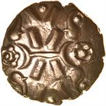Vepo Triadic. c.AD15-40. Celtic gold stater. 19mm. 5.05g.