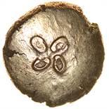 Floret Trophy. c.50-40 BC. Celtic gold quarter stater. 10mm. 1.37g.