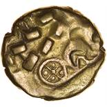 Kite. Anticlockwise Type. Sills Mint A, class 7. c.45-10 BC. Celtic gold stater. 18mm. 5.39g.