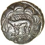 Danebury Dagger (formerly Spear).c.50-30 BC. Celtic silver unit. 15mm. 1.35g.