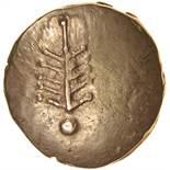 Corio Tree. Tiny V Type. c.20BC-5AD. Celtic gold stater. 17mm. 5.38g.