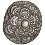 Crescents Scissor Nose. c.55-45 BC. Celtic silver unit. 10-12mm. 1.02g.