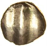 Vosenos Star Horse. Sills class 1, rev. die 5.10BC-AD5. Celtic gold quarter stater. 11mm. 1.35g.