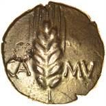 Cunobelinus Wild. Fat Stallion Type. c.AD8-41. Celtic gold stater. 18mm. 5.25g.