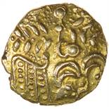 Ratham Dotty Wreath. c.55-45 BC. Cetic gold quarter stater. 12mm. 1.14g.