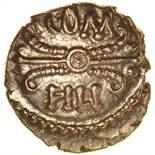 Verica Thunderbolt. VIRI Type. c.AD 10-40. Celtic gold quarter stater. 11mm. 1.26g.