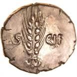 Epaticcus Corn Ear Warrior. Sills class 1, dies 3/9. c.AD25-40. Celtic gold stater. 17-19mm. 5.38g.