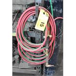 LOT/ OXY-ACETYLENE TORCH WITH GAUGES & HOSE (NO TANKS) (CI)