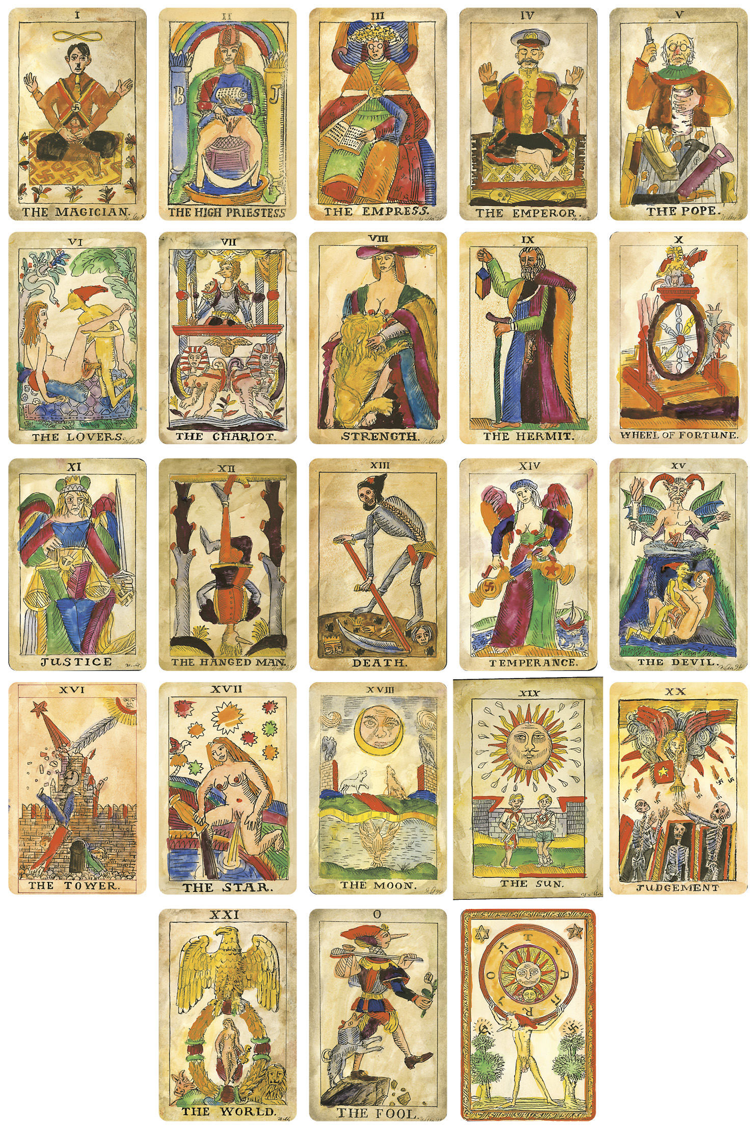 Lot 237 - Esotericum. Makarevich Tarot, a collection of 23 cards and a cover sheet