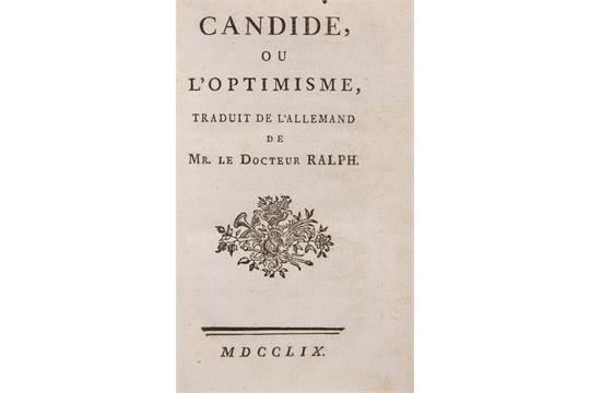 Voltaire Fran231ois Marie Arouet De Candide Ou L39optimisme
