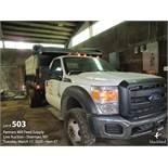 2014 FORD F550 dump truck power stroke diesel
