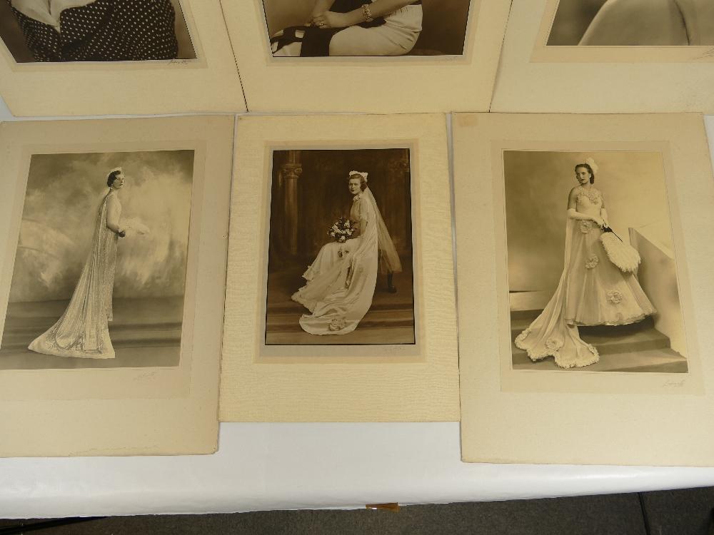 Lot 39 - Six LAFAYETTE PHOTOGRAPHS of ladies - photo size not including mount / margin,