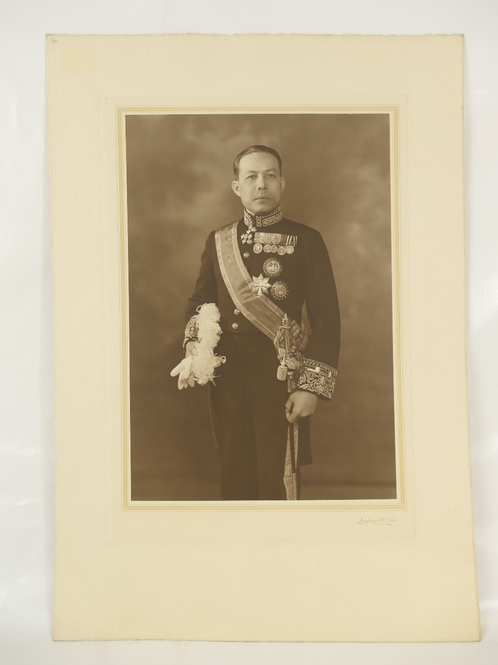 Lot 10 - Siamese (now Thailand) minister vice admiral Phya Rajawangsan ambassador of Thailand to the United