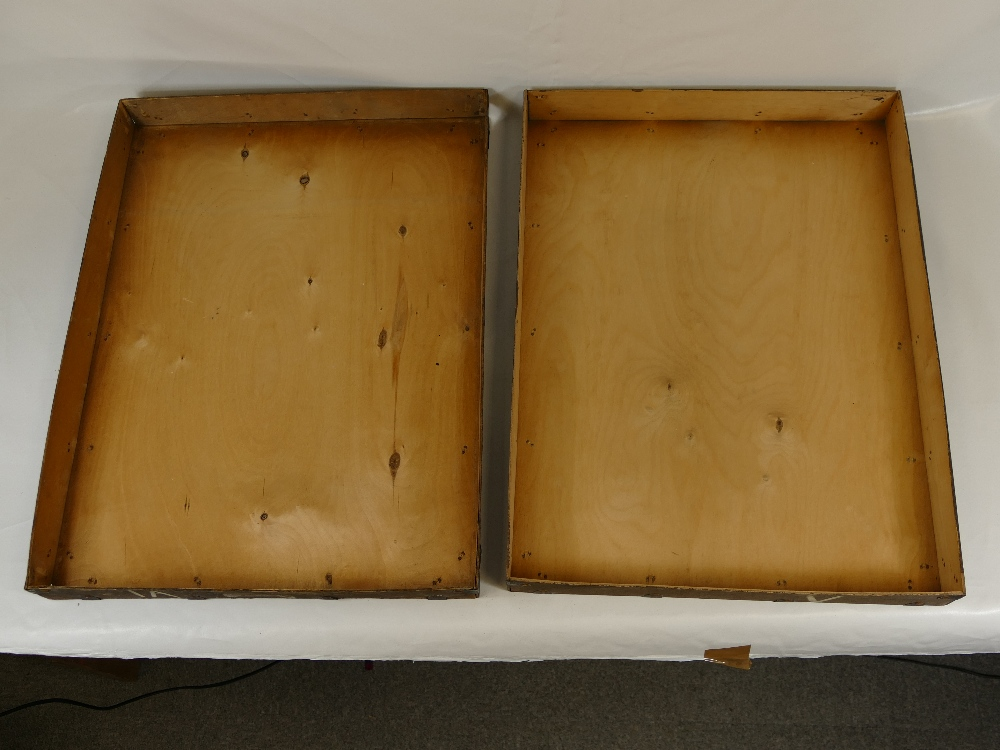 Lot 33 - An original LAFAYETTE archive specimen metal bound and wooden crate.