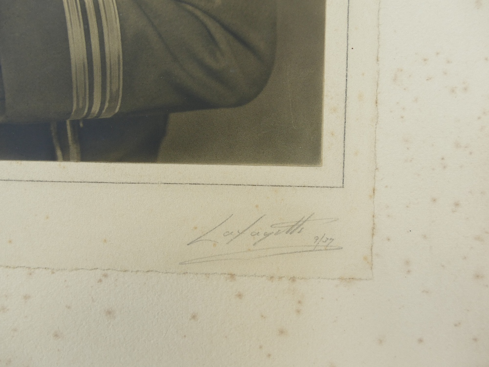 Lot 17 - Squadron Leader R L Edward - large studio portrait bearing full title and description,