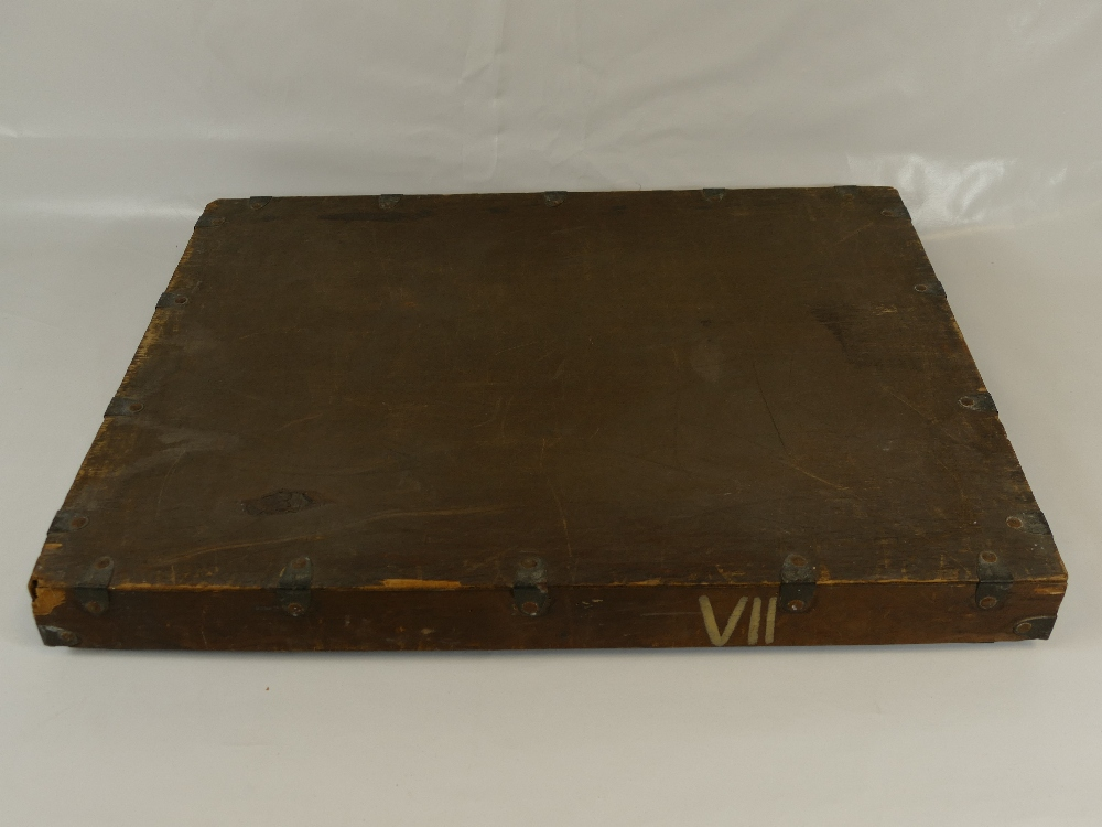 Lot 33A - An original LAFAYETTE archive specimen metal bound and wooden crate.