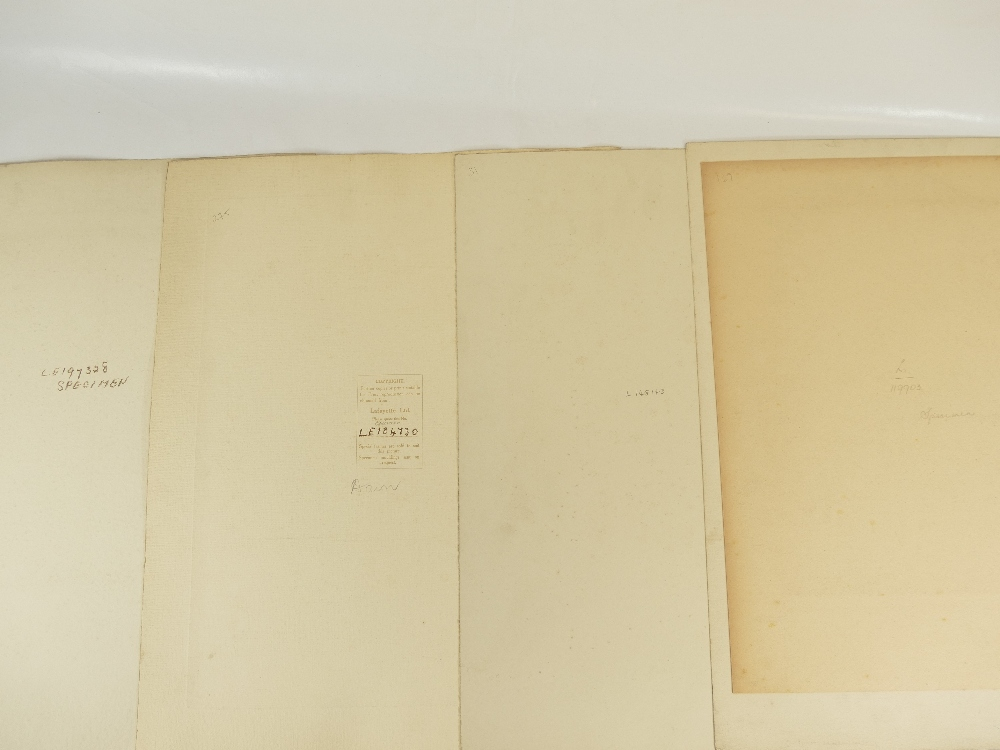 Lot 22 - Four unidentified Lafayette military portraits - all large specimen originals,