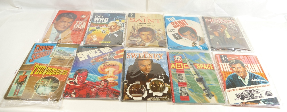 Lot 44 - ANNUALS x eleven including - The Sweeney (2), Captain Scarlet Thunderbirds, ABC of Space,
