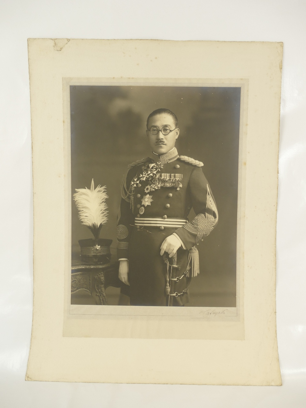 Lot 13 - Marquis General Toshinari Maeda Japan 1885 - 1942 - Japanese general active during WWII - large