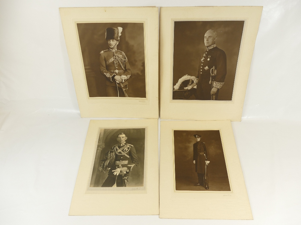 Lot 21 - Four identified Lafayette military portraits - Major F J Garforth / J Chanos Pale esq.