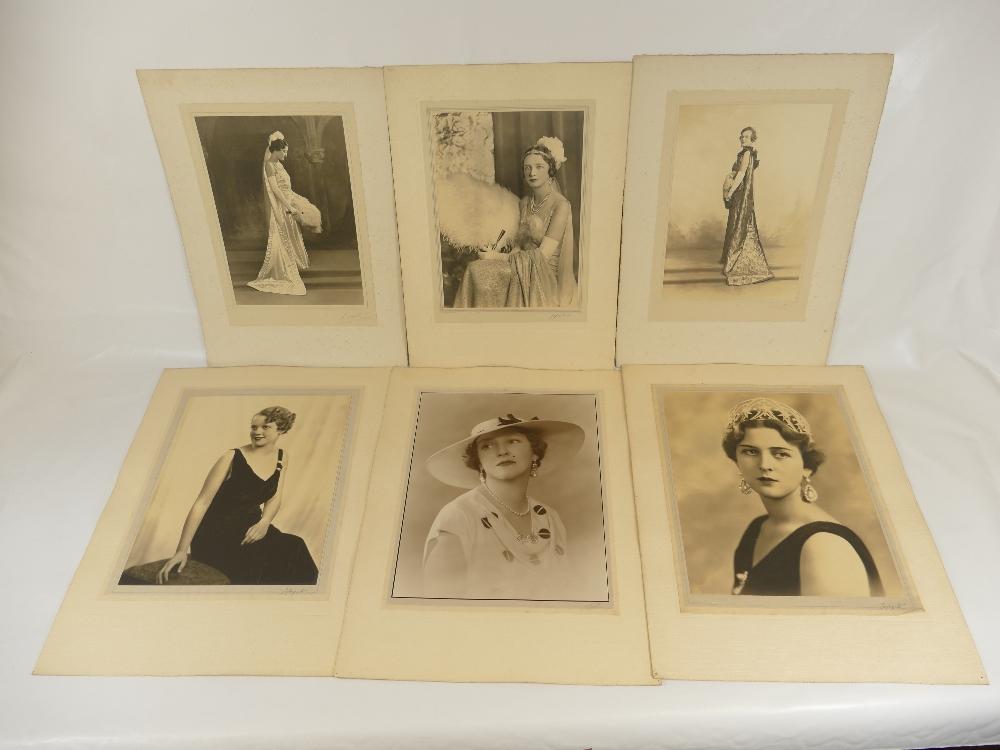 Lot 31 - Six large Lafayette studio Photographs - Grand Duchess of Hesse, Mrs Charles Palmour, Mary Rooke,