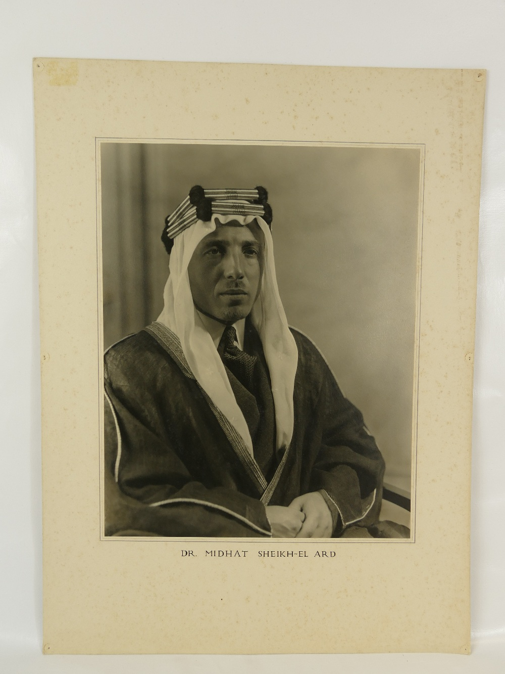 Lot 3 - Midhat Sheikh al-Ard, the Syrian physician and private adviser to King Abdul-Aziz of Saudi Arabia,