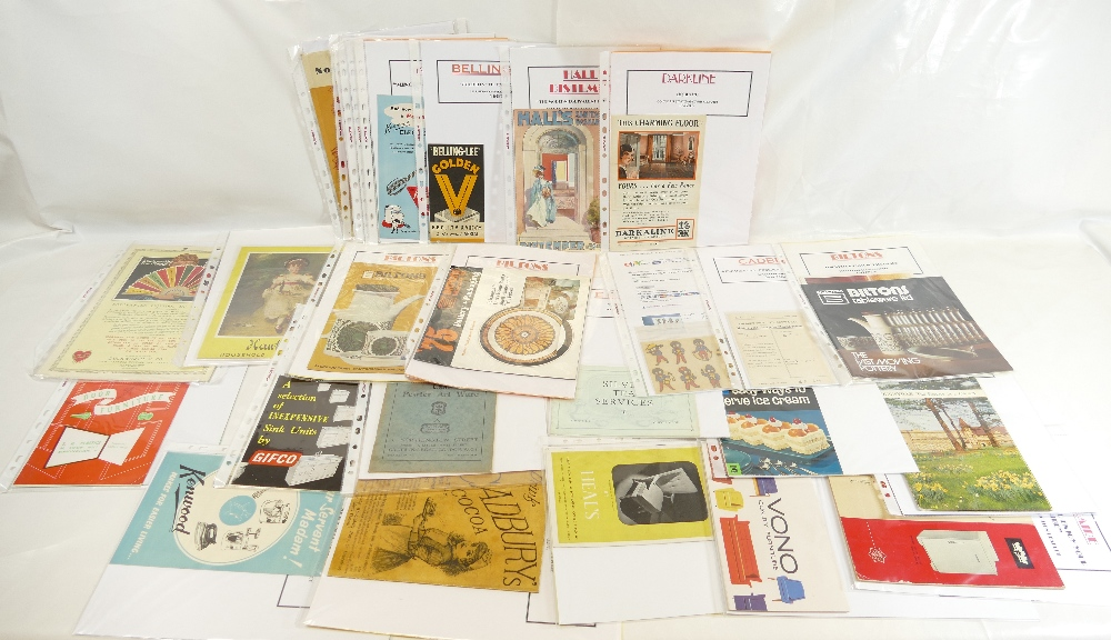 Lot 58 - LEAFLETS AND BOOKLETS, HOUSEHOLD AND ADVERTISING x 28 1950'-70's.