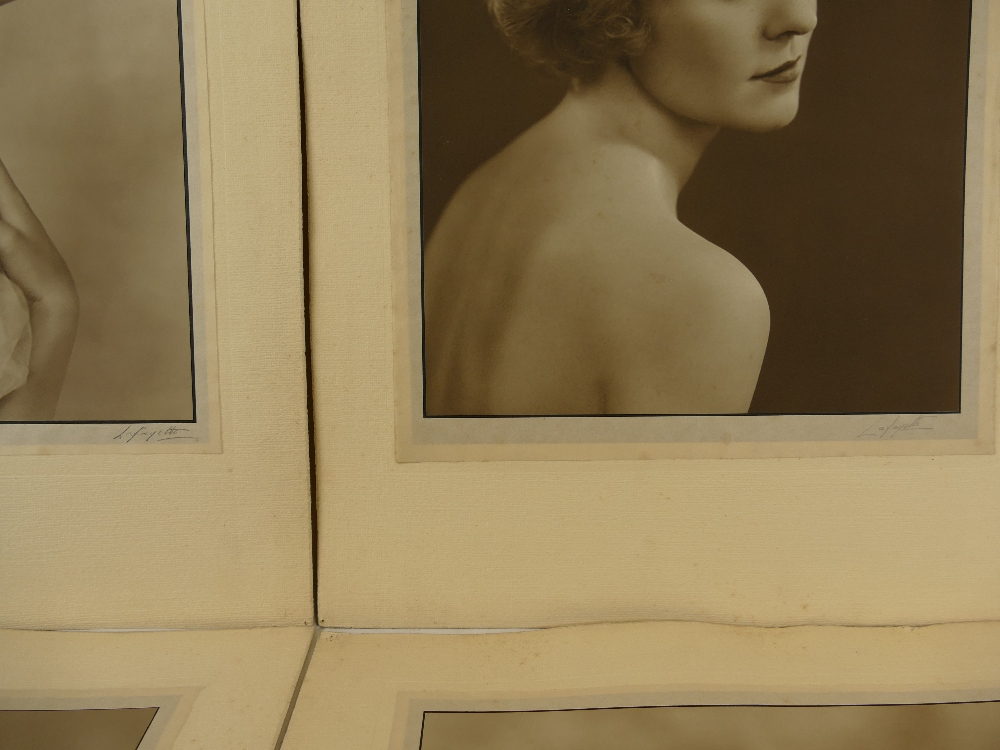 Lot 37 - Five LAFAYETTE PHOTOGRAPHS of ladies - Miss Shiela Fenn, Villabad Rand,