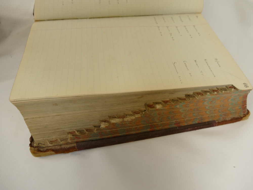 Lot 28 - Two large thick and heavy LAFAYETTE LEDGERS detailing clients from the 1930's.