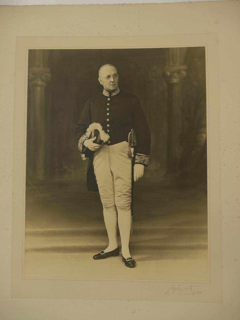 Lot 30 - Three large Lafayette studio Photographs - Sir William Keel,