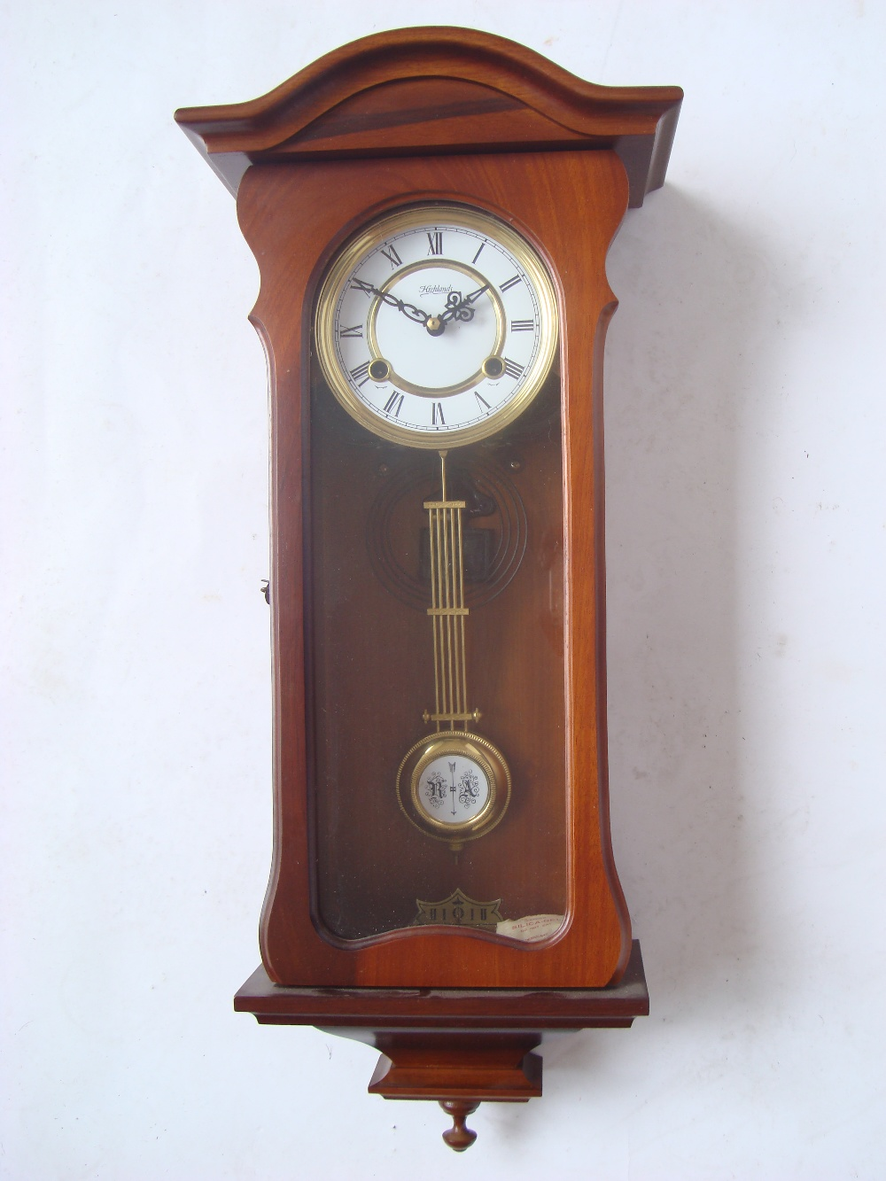 A mahogany highlands wall clock with spring driven eight day lot 199a a mahogany highlands wall clock with spr amipublicfo Image collections