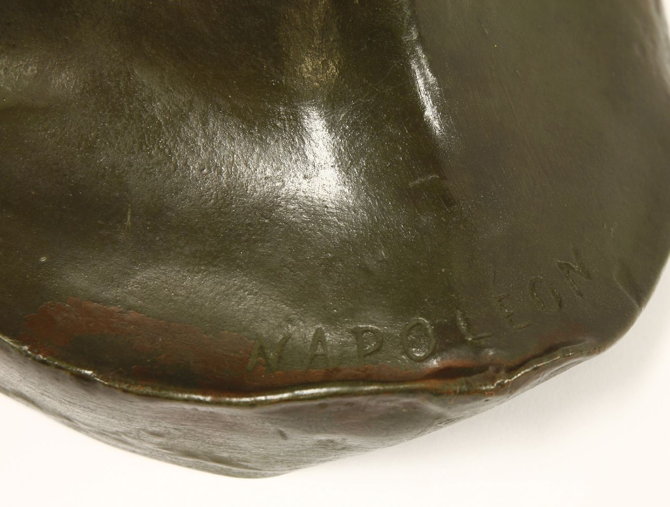 Lot 356 - NAPOLEON'S DEATH MASK ELECTROTYPE,mid to late 19th century, with bronzed finish, after Francois