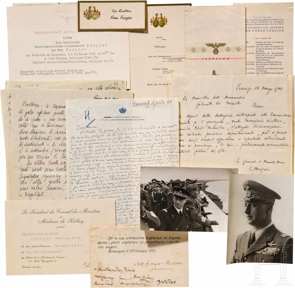 Lot 5982 - General Rino Corso Fougier (1894 - 1963) - Gruppe Dokumente und FotosEinladung von Reichsmarschall