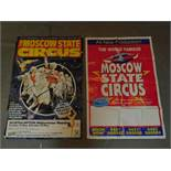 Two large Moscow State Circus posters