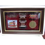 "Matchbox ""Models Of Yesteryear"" Framed Cabinet Displaying Model of Preston Tramcar, in London"