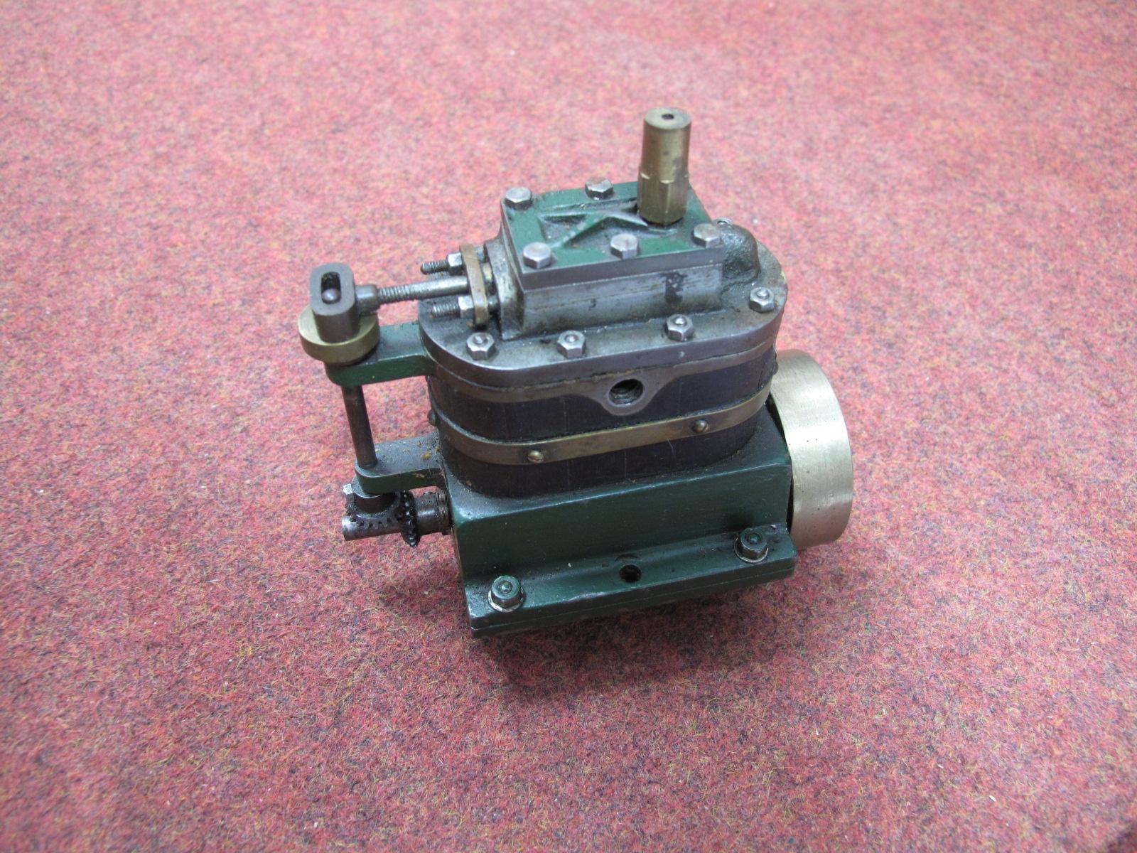 Lot 10 - A Stuart Live Steam Marine Engine, a boxed Stuart dynamo (unused) , a small engineered vertical twin