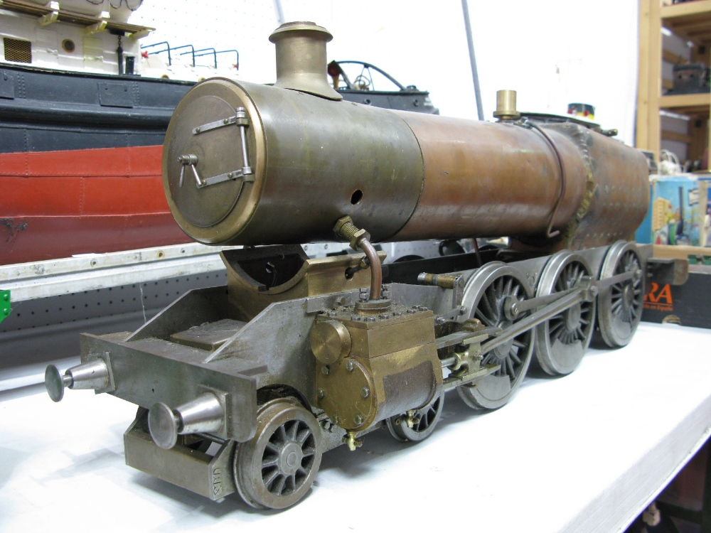 Lot 9 - A 3½ Inch Gauge 4-6-0 Live Steam Rolling Chassis and Boiler, with rods and outer pistons, unfinished